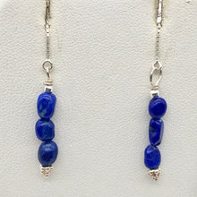 Load image into Gallery viewer, triple-lapis-lazuli-and-sterling-threader-earrings-303272a-9315