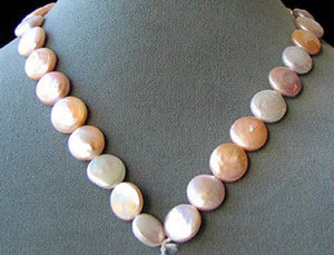 Amazing Natural Multi-Hue FW Coin Pearl Strand 104757A - PremiumBead Alternate Image 2