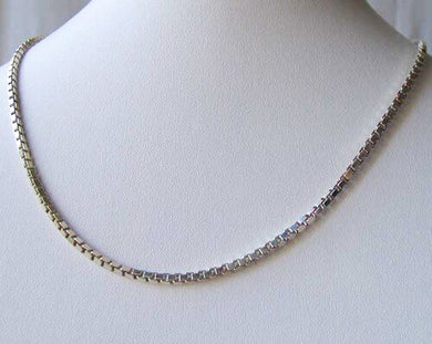 Italian! Silver 2mm Box Chain 18