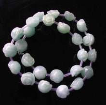 Load image into Gallery viewer, 12 Roses Carved Quartz Calcite Flower Bead 8 inch Strand 10174HS - PremiumBead