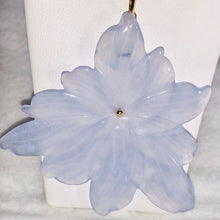 Load image into Gallery viewer, Blue Chalcedony Flower Pendant Necklace |SemiPrecious Jewelry | 14k Gold Pendant - PremiumBead