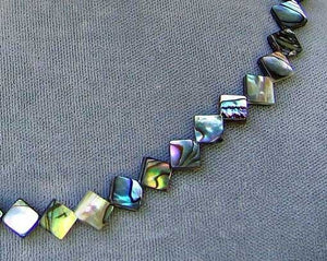 Exciting! Abalone Diagonal Square Bead Strand 105762 - PremiumBead Alternate Image 2