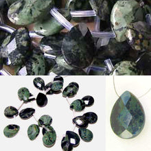 Load image into Gallery viewer, 2 Kambaba Jasper Faceted Briolette Beads 7304 - PremiumBead