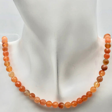 Luscious! Faceted 6mm Natural Carnelian Agate Bead Strand - PremiumBead Primary Image 1