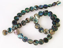 Load image into Gallery viewer, Natural Abalone Shell 8.5mm Coin Bead Strand (49 Beads) 109910 - PremiumBead