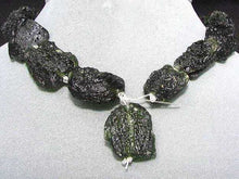 Load image into Gallery viewer, 2 Unique Pendant Size Black Meteor Fragments 11 grams | 29x21x8 to 27x22x8mm | - PremiumBead Alternate Image 6