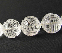 Load image into Gallery viewer, 1 Unique Hand Carved Long Life Natural Quartz 19mm 10357A | 19mm | Clear - PremiumBead Alternate Image 2