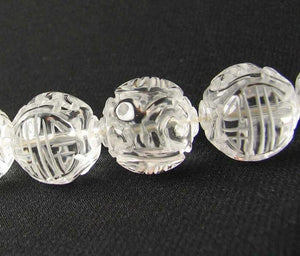 1 Unique Hand Carved Long Life Natural Quartz 19mm 10357A | 19mm | Clear - PremiumBead Alternate Image 2