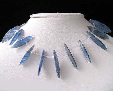 Blue Kyanite Knife Cut Briolette Beads Strand 110466HS - PremiumBead