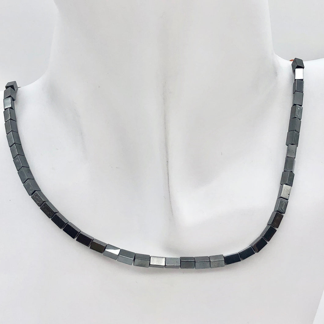 Metallic Hematite 5x3mm Rectangle 16 inch Bead Strand 107569 - PremiumBead Primary Image 1