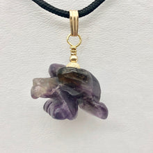 Load image into Gallery viewer, Amethyst Eagle Pendant Necklace | Semi Precious Stone Jewelry | 14k Pendant - PremiumBead