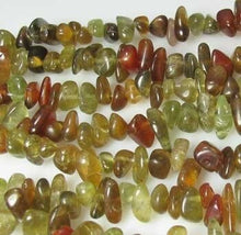Load image into Gallery viewer, rare-green-cinnamon-grossular-garnet-nugget-bead-strand-110469a-2862