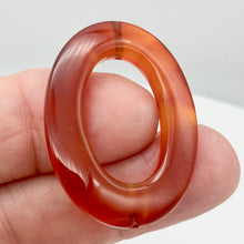 Load image into Gallery viewer, So Hot! 1 Carnelian Agate Oval Picture Frame Bead 8940 - PremiumBead