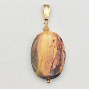 Ancient Forests Mookaite 30x20mm Oval 14k Gold Filled Pendant, 2 inches 506765B - PremiumBead Alternate Image 7
