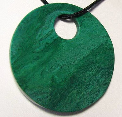Green African Jade 50mm Pi Circle Pendant Bead 9363A - PremiumBead Primary Image 1