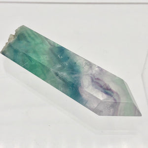 Fluorite Rainbow Crystal with Natural End |3.0x.94x.5"