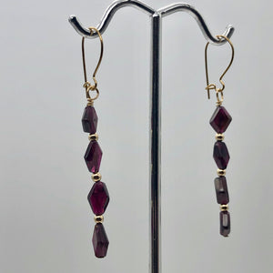 14K Gold Filled Red Pyrope Garnet Earrings | 2 inches long | - PremiumBead Alternate Image 6