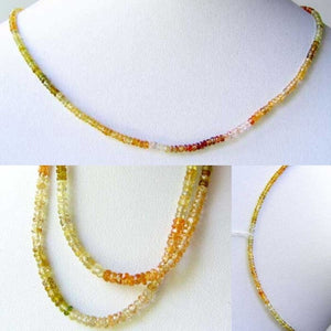 Natural Multi-Hue Zircon Faceted Bead Strand 107452A - PremiumBead