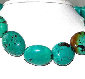 735cts Natural USA Turquoise Oval 16 Bead Strand 108476 - PremiumBead Alternate Image 3