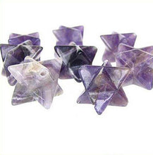 Load image into Gallery viewer, Kabbalah 2 Carved Amethyst Merkabah Star Beads 9288Am | 25x15x15mm | Purple - PremiumBead