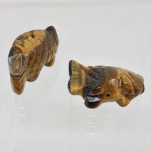 Load image into Gallery viewer, Swimmin' 2 Carved Tigers Eye Fish Koi Carp Beads | 23x11x8mm | Gold - PremiumBead Alternate Image 3