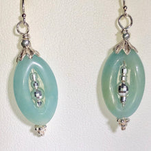 Load image into Gallery viewer, Amazonite Picture-Frame and Sterling Earrings 309368DA - PremiumBead