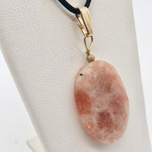 Load image into Gallery viewer, 14Kgf Sunstone 30x22mm Pendant 506515 - PremiumBead Alternate Image 2