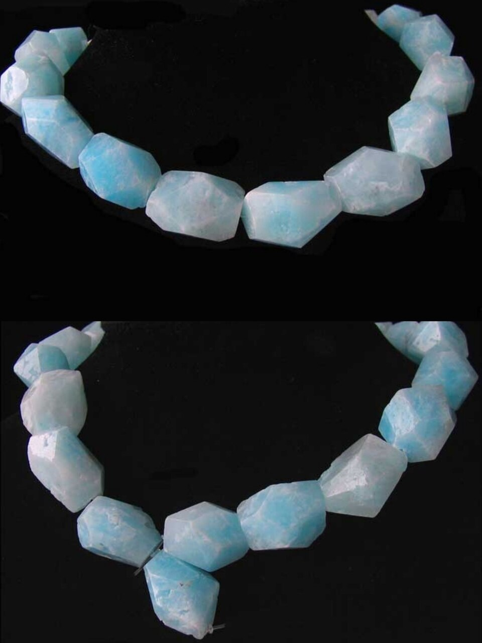 732cts Hemimorphite Faceted Nugget Bead Strand 110390C - PremiumBead Primary Image 1