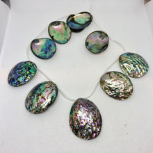 Load image into Gallery viewer, Designer! (1) Natural Abalone Shell 32x27x5 to 45x39x11mm Briolette Bead 009909 - PremiumBead