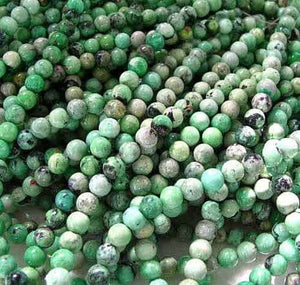 Mojito Minty Green Turquoise 5.5mm Round Bead Strand 107415 - PremiumBead Alternate Image 2