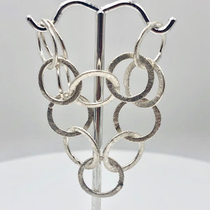 Perfect Brushed Silver Circle Chain Findings 6 inches 9408 - PremiumBead