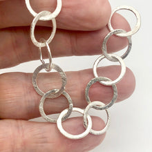Load image into Gallery viewer, Perfect Brushed Silver Circle Chain Findings 6 inches 9408 - PremiumBead