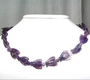 2 Hand Carved Natural Purple Amethyst Angels 9284Am | 21x14x8mm | Purple - PremiumBead