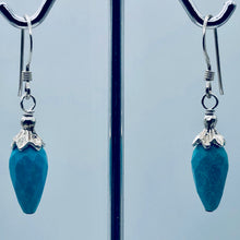 Load image into Gallery viewer, Charming Designer Natural Untreated Kingman Turquoise Earrings Sterling Silver - PremiumBead