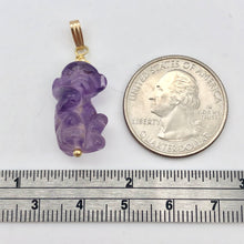 Load image into Gallery viewer, Amethyst Monkey Pendant Necklace | Semi Precious Stone Jewelry | 14k Pendant - PremiumBead