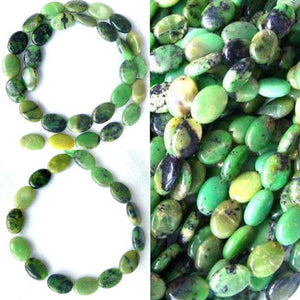 Shockingly Rare Chrysoprase Oval Bead Strand 108453 - PremiumBead Alternate Image 4