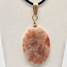 Load image into Gallery viewer, 14Kgf Sunstone 30x22mm Pendant 506515 - PremiumBead Alternate Image 4