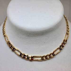 "Italian Vermeil 6.5mm Figaro Chain 18"" Necklace (26 Grams) 10023A - PremiumBead Primary Image 1"