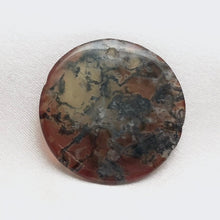 Load image into Gallery viewer, Natural Rare Limbcast Moss Agate 28mm Disc Pendant Bead 4848Ev - PremiumBead