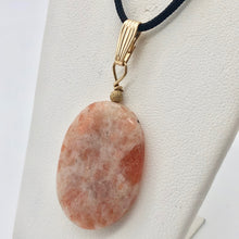 Load image into Gallery viewer, 14Kgf Sunstone 30x22mm Pendant 506515 - PremiumBead