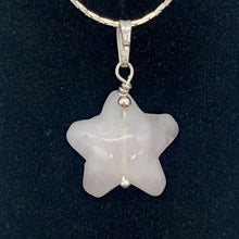 Load image into Gallery viewer, Rose Quartz Starfish Pendant Necklace | Semi Precious Stone | Silver Pendant | - PremiumBead