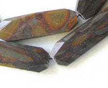 Load image into Gallery viewer, Decadent Chocolate Jasper Artcut Bead Strand 109681 - PremiumBead