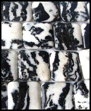 Load image into Gallery viewer, Hot 1 Black & White Zebra Agate Square Bead 008613 - PremiumBead Alternate Image 2