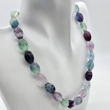 "Load image into Gallery viewer, Rare! Carved 14x10mm Oval Fluorite 13"" Bead Strand! - PremiumBead Alternate Image 2"