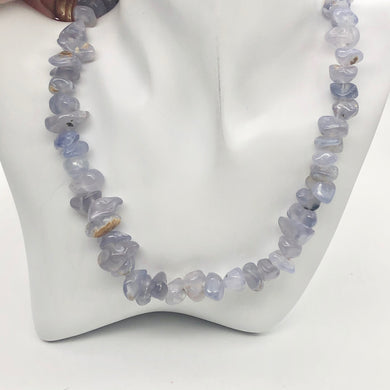 Oregon Holley Blue Chalcedony Agate Nugget Bead Strand - PremiumBead Primary Image 1