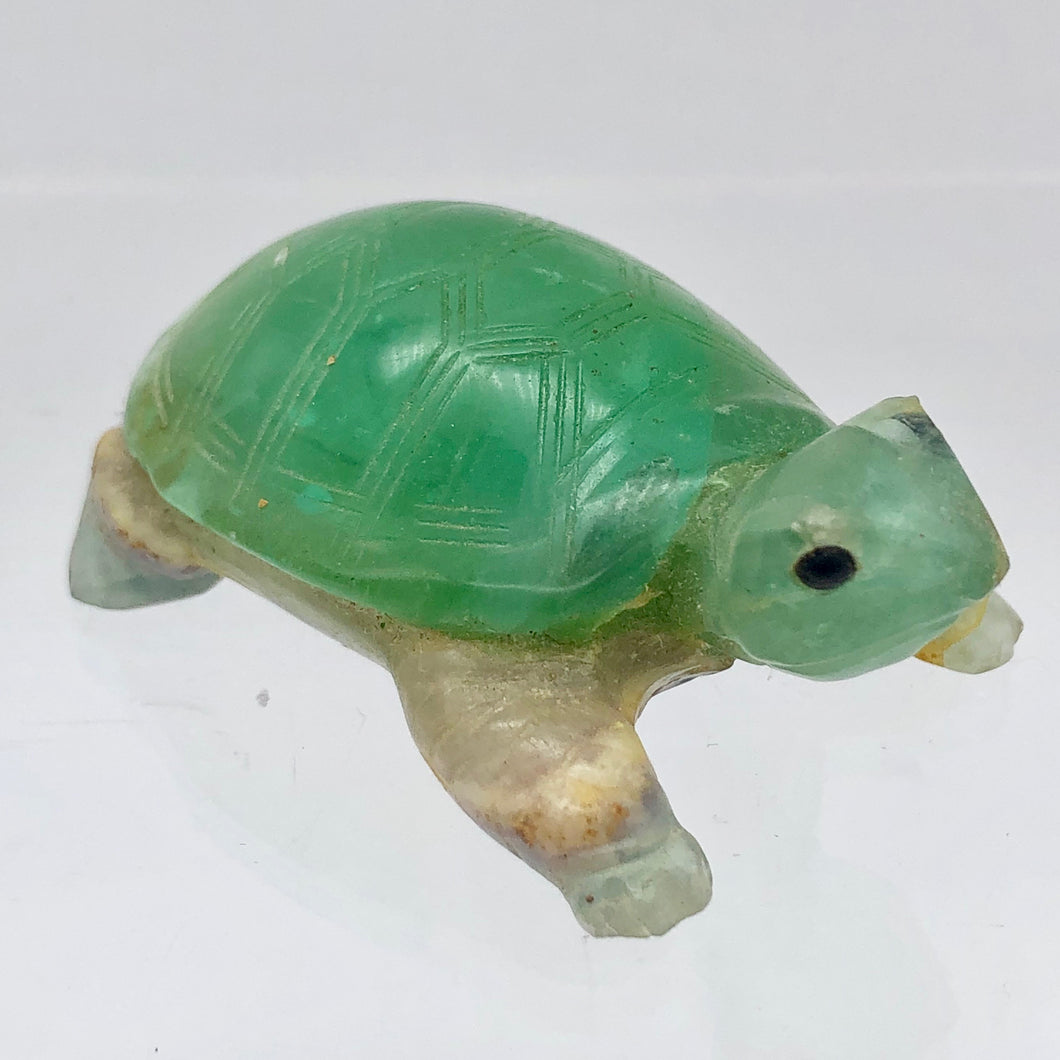 Natural Fluorine Turtle Figurine | 2 1/8x1 3/8x3/4