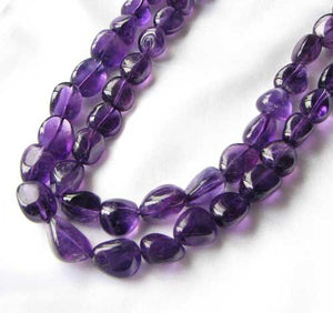 Grape Candy Amethyst Nugget Focal Bead Strand 109383 - PremiumBead Alternate Image 2