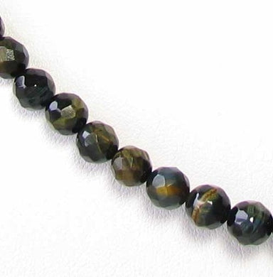 Flash Midnight Tigereye 6mm Faceted Bead Strand 110240 - PremiumBead