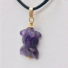 Load image into Gallery viewer, Amethyst Goldfish Pendant Necklace | Semi Precious Stone Jewelry | 14k Pendant - PremiumBead