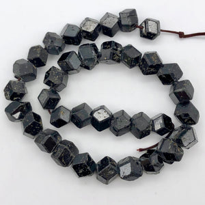 "Natural Garnet 12-sided Crystal Bead 14.5"" Strand 